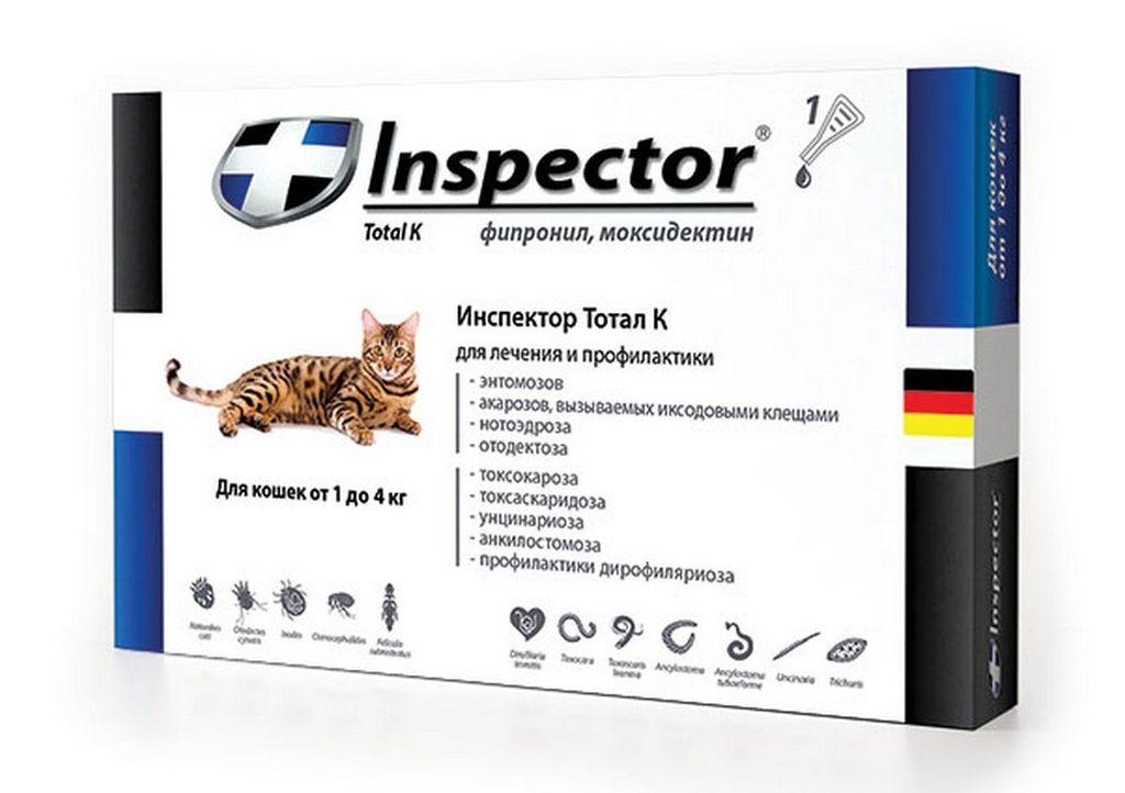 Инструкция по применению капель Инспектор для кошек и собак