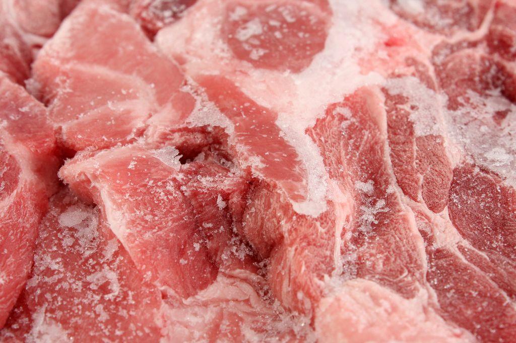 При заморозке мяса таурин исчезает вместе с водой
