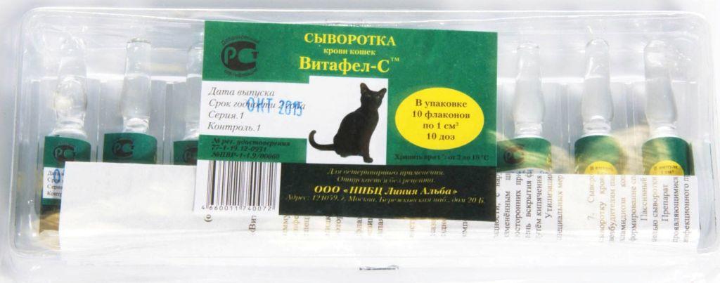 Подробная инструкция по применению препарата витафел-с для кошек