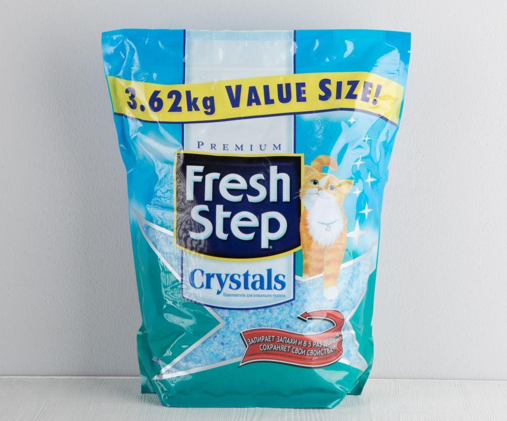 Наполнитель для кошачьего туалета Fresh Step Crystals, силикагелевый, 3,62кг
