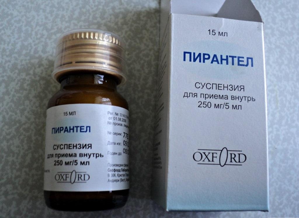 Противоглистный препарат пирантел, суспензия для приема внутрь