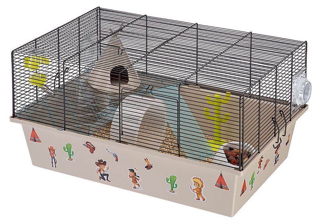 Грызуну необходимо личное пространство, поэтому клетка должна быть просторной