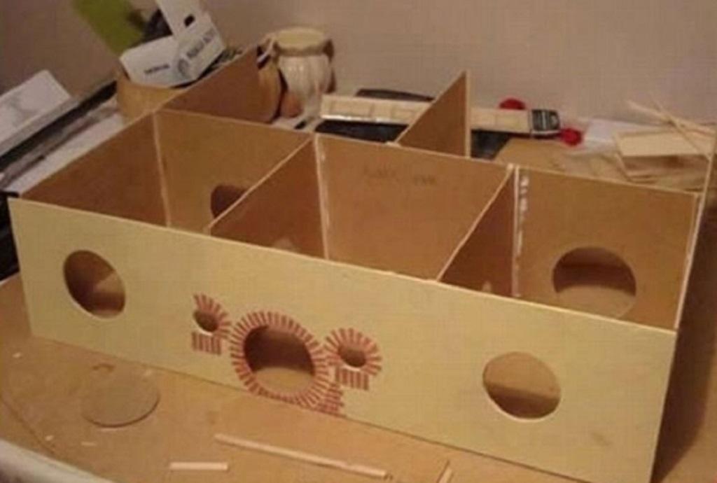 Как сделать домик для хомяка своими руками