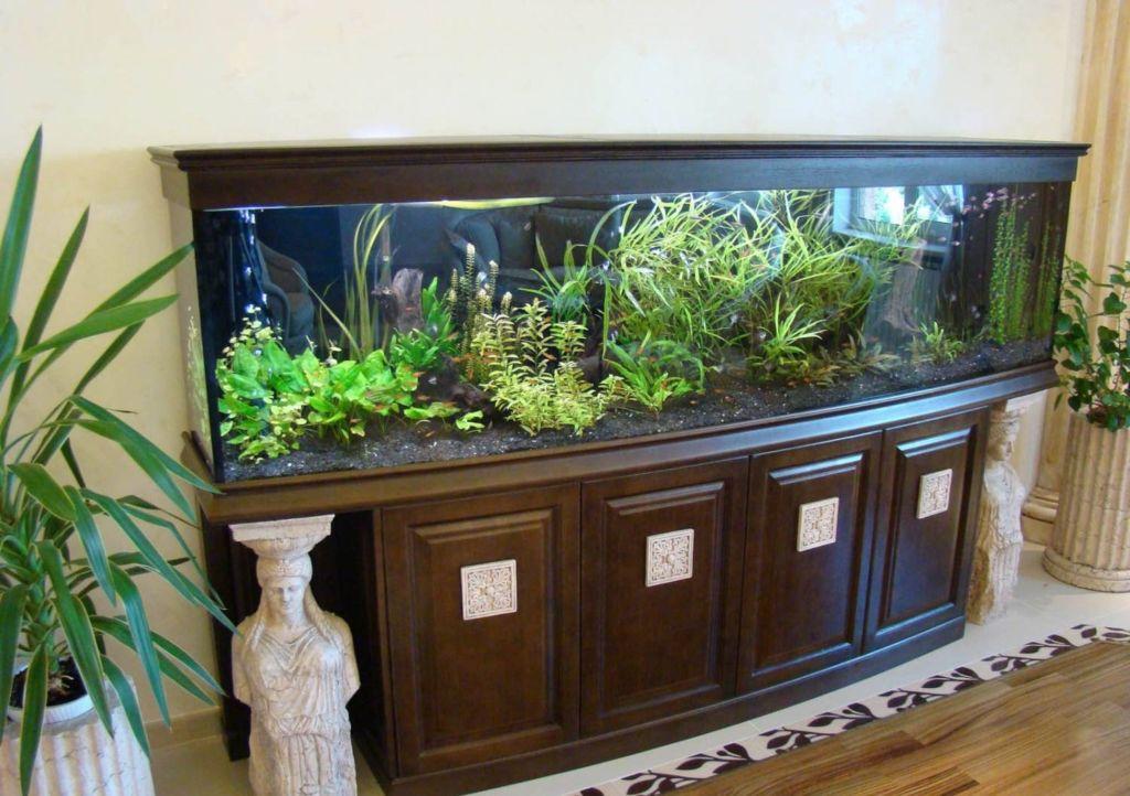 Деревянная тумба для аквариума