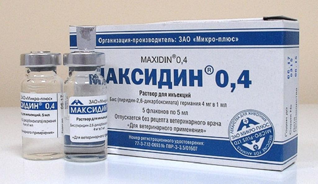 Максидин в виде раствора для инъекция