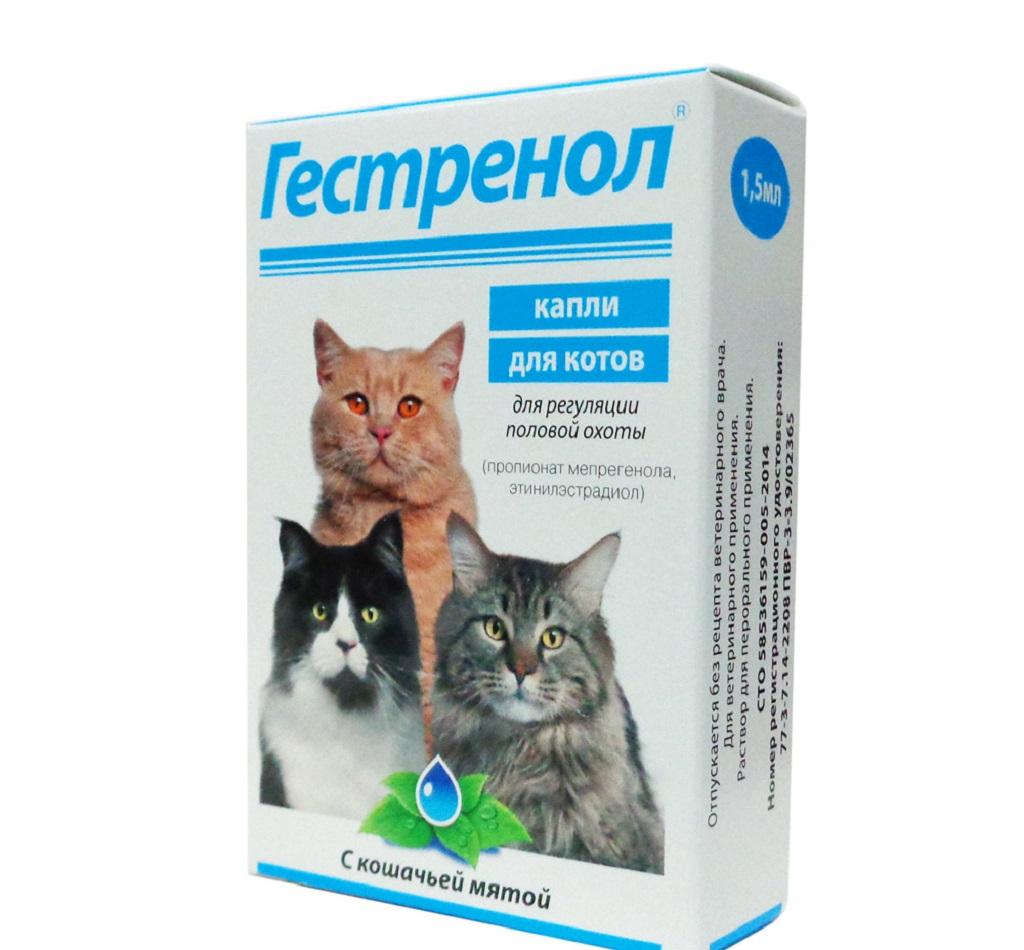 Гестренол - капли для кошек