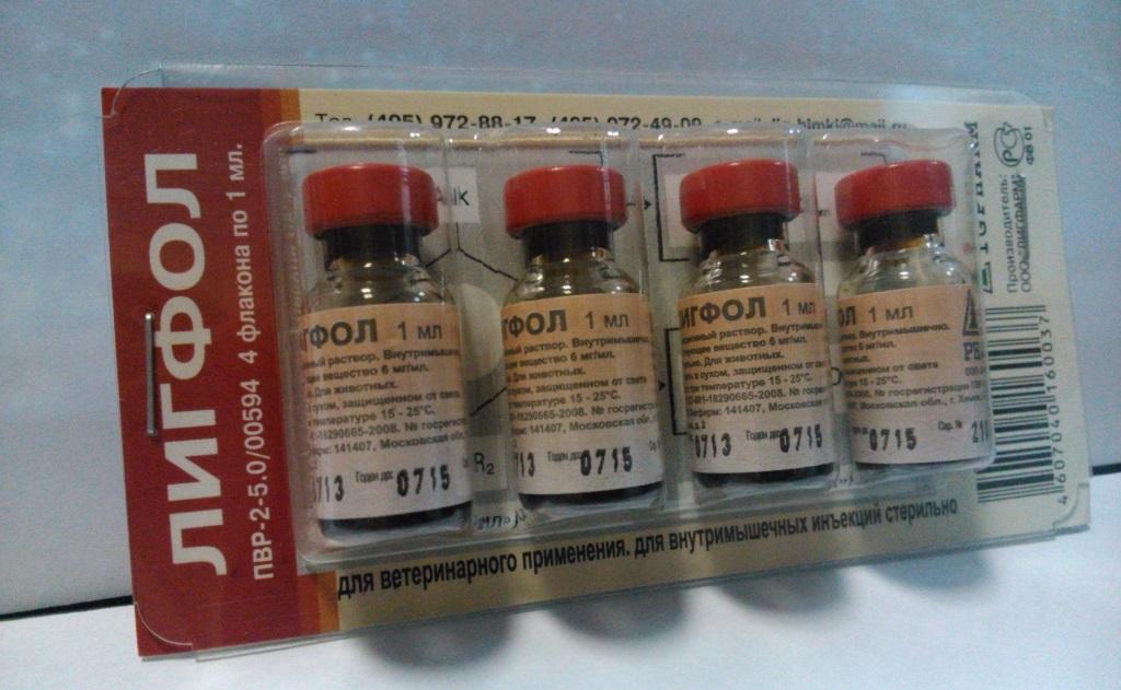Расфасовывают лигфол стерильно в стеклянные ампулы и бутылочки по 1, 5, 10, 50, 100, 250, 500 мл