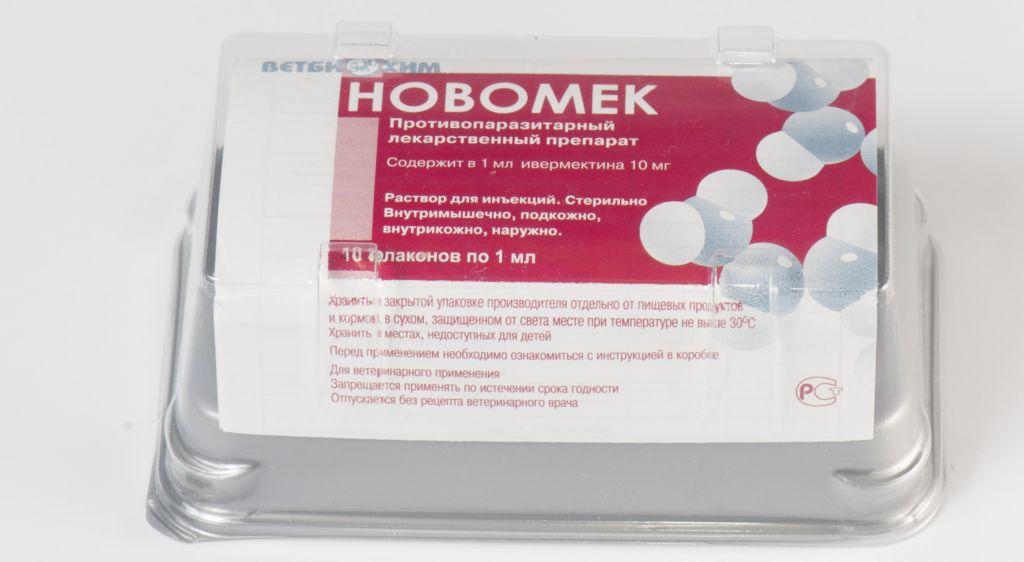 Новомек - противопаразитарный лекарственный раствор