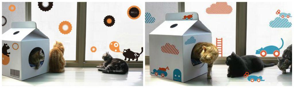 Картонные коробки для котов
