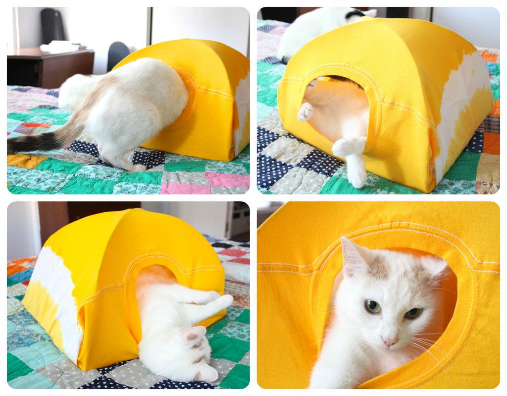 Готовый дом для кошки