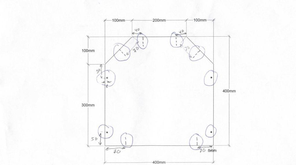 Схема когтеточки из картона