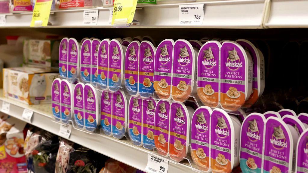 Вискас продается не только в зоомагазинах, но и в супермаркетах