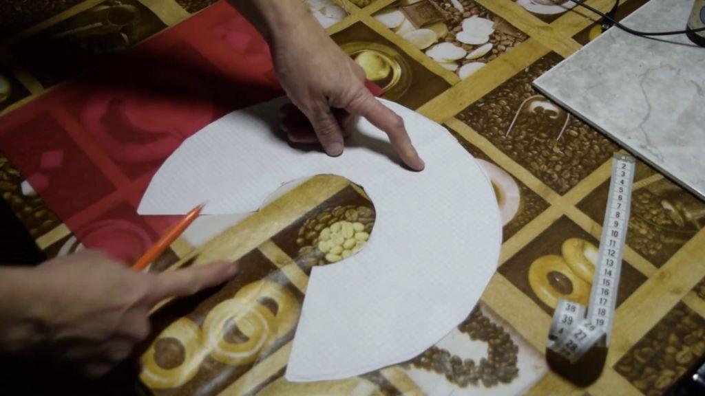 Изготовление воротника из картона