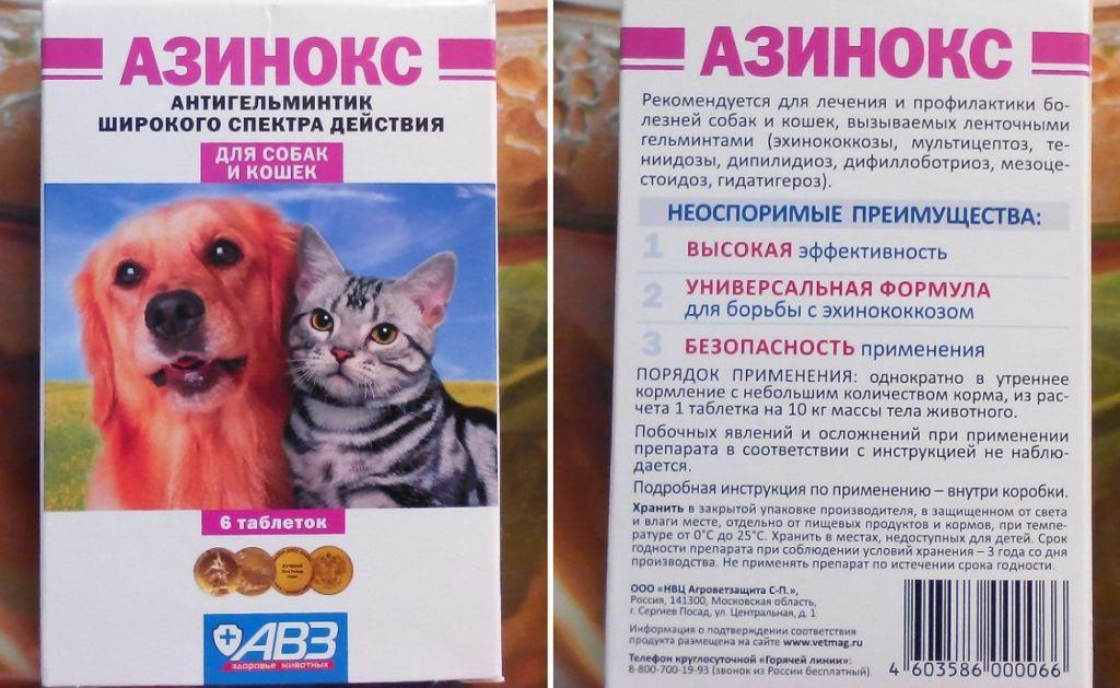 Антигельминтный препарат подходит и для кошек, и для собак