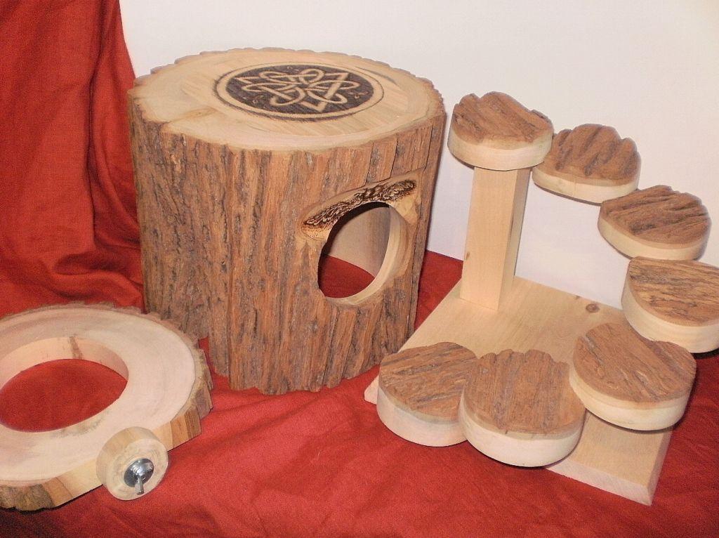 Домик для шиншиллы из дерева