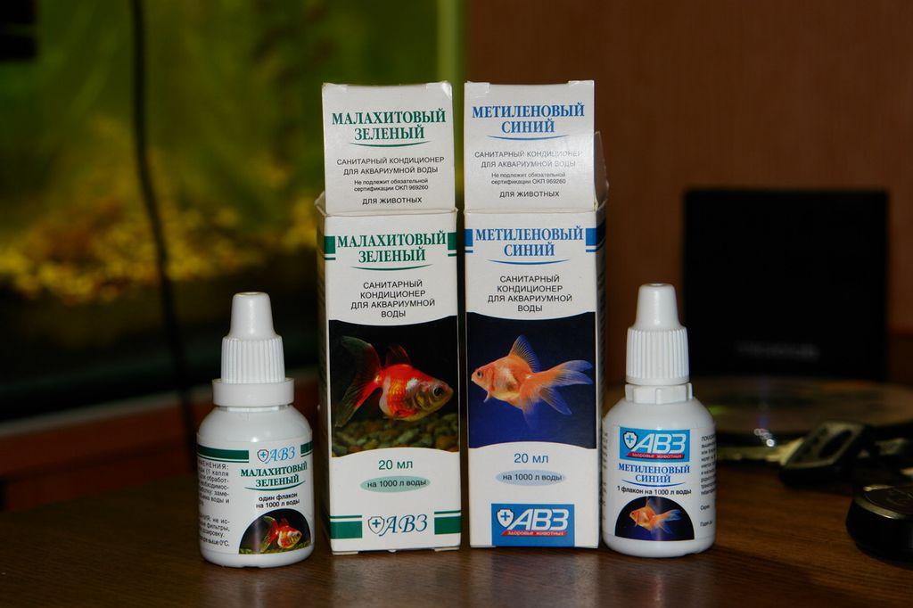 При проведении процедуры дезинфекции необходимо каждый раз использовать новый раствор малахитового зелёного