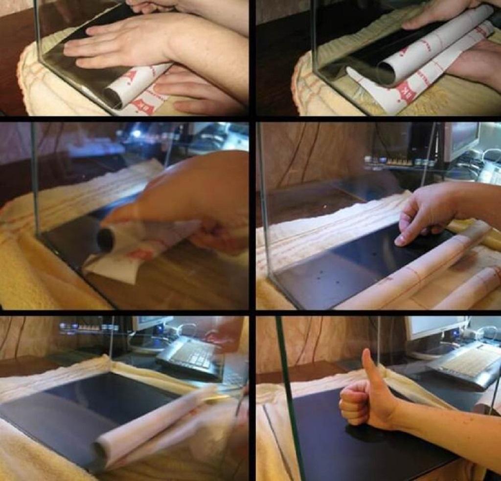 Пошаговая инструкция, как правильно приклеить пленку