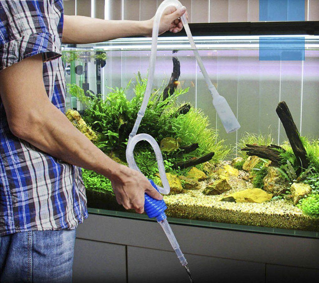 Количество заменяемой воды зависит от объема аквариума
